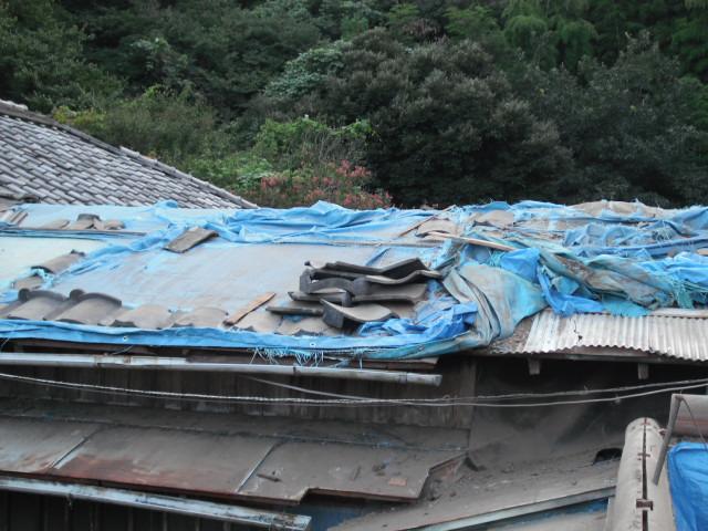 改修前食堂屋根